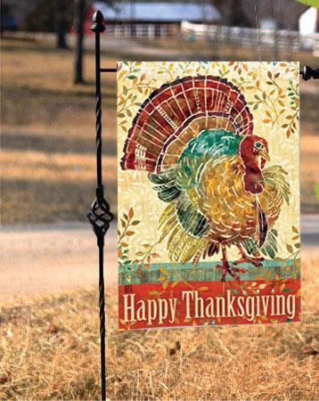 Thanksgiving Turkey Fall Garden Flags