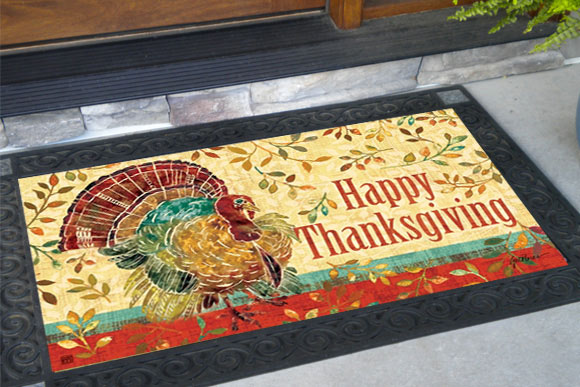 Thanksgivingn Turkey MatMates Doormat