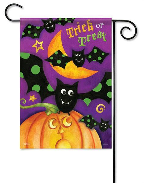 Trick or Treat Bats Outdoor Halloween Garden Flags