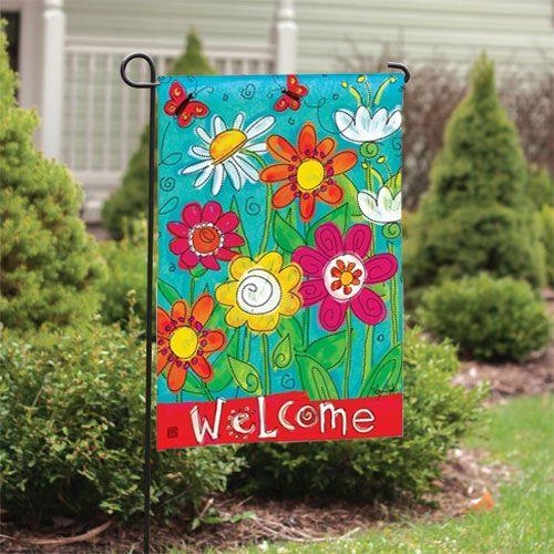 Welcome Blooms Decorative Garden Flags