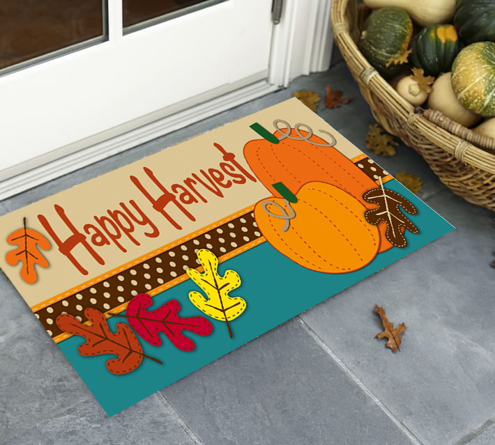 Happy Harvest Fall Door Mats