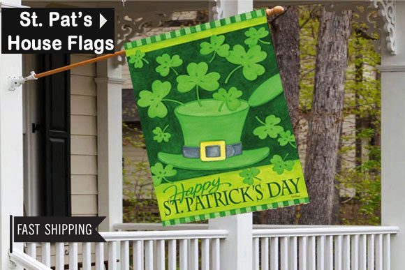 St. Patrick's Day House Flag St. Patrick's Day decorations