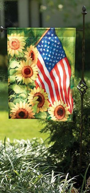 American Sunflowers Garden Flag www.flagsonastick.com