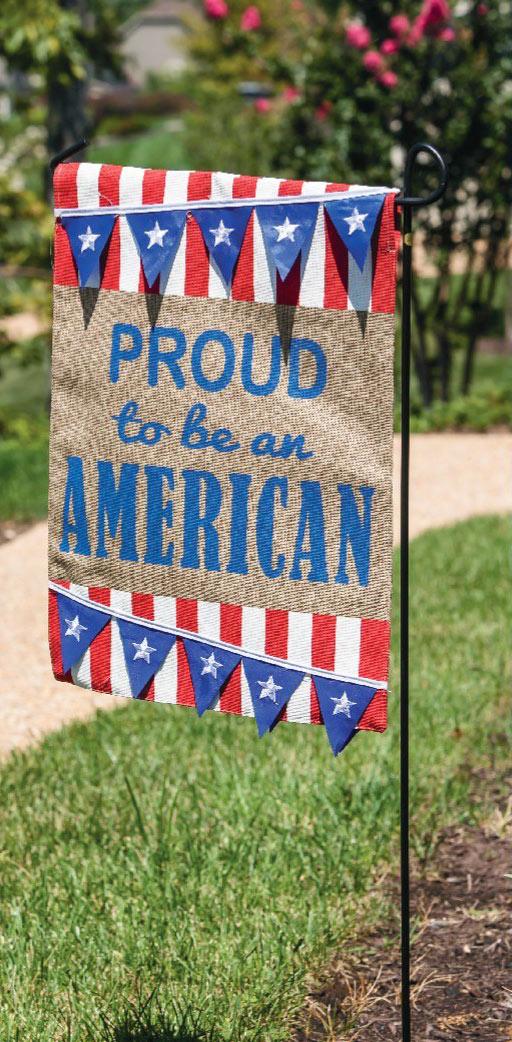 Patriotic Garden Decor Proud to be an American Garden Flag www.flagsonastick.com