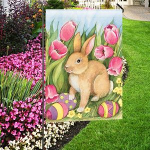 Easter Garden Flags by Your Favorite Artists flagsonastickblogcom