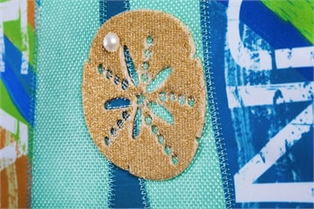 Burlap Garden Flags Detail