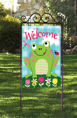 Happy Frog Summer Yard Flags