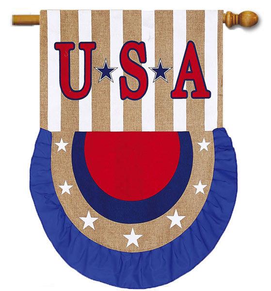 USA Patriotic Bunting Flag