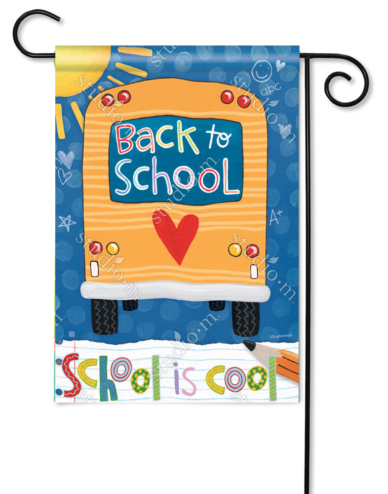 School is Cool Garden Flag - BreezeArt