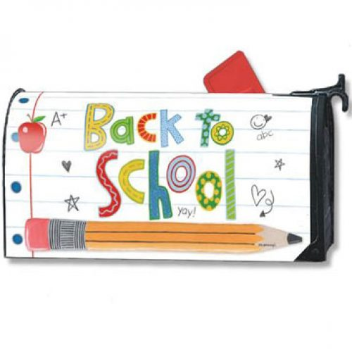 Back to School Decor - School is Cool Magnetic Mailbox Cover