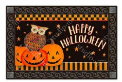 Owloween Fun Halloween MatMates Doormat