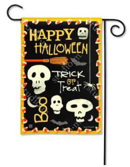 Skeleton Halloween Garden Flag