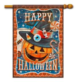 Halloween Treats House Flag