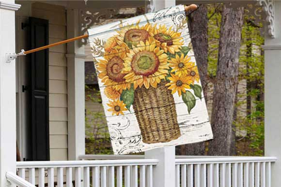 Farmhouse Sunflower Decorative House Flag
