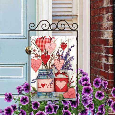 Filled with Love Decorative Valentine's Day Garden Flags
