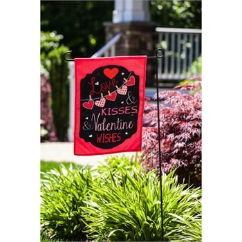Love and Kisses Decorative Valentine's Day Flags