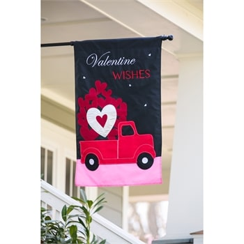 Truckload of Hearts Decorative Valentine's Day Flags