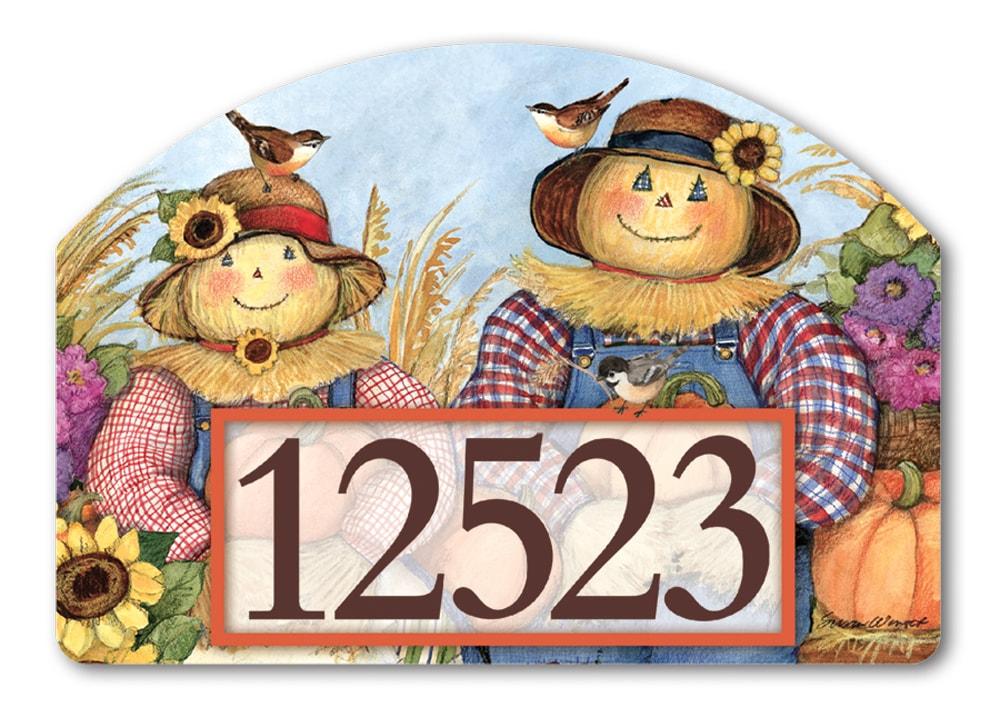 Happy Harvest Yard Design Address Sign