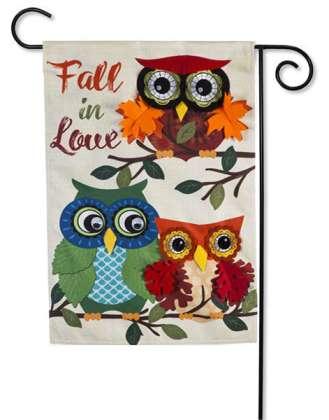 Autumn Owls Fall Garden Flag