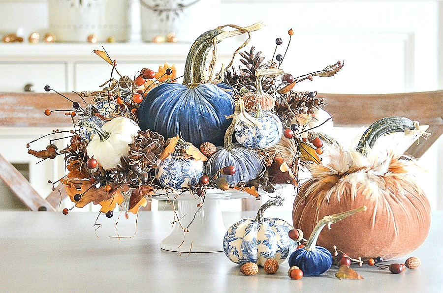 DIY Chinoiserie pumpkins from Stone Gable blog