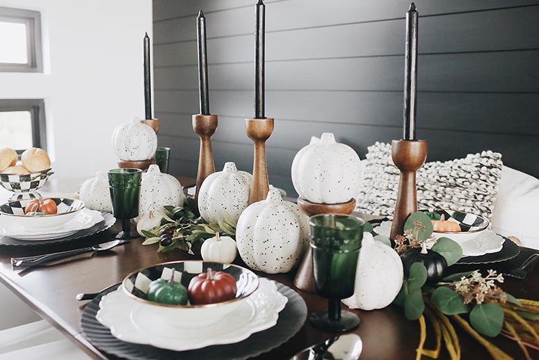 Pumpkin tabletop with MacKenzie Childs